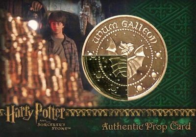 Harry Potter Sorcerer's Stone Wizard's Gold Galleon Prop Card HP #21/40