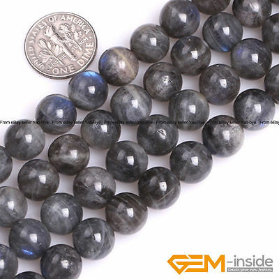 Natural AAA Grade Rainbow Labradorite Gemstone Round Beads For Jewelry Making YB