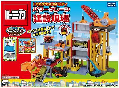 Takara Tomy Tomica Town Build City Power Crance Construction Site Toy Playset