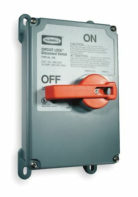 Hubbell Kellems Nonfusible Enclosed Disconnect Switch, Heavy Duty, 15 HP @