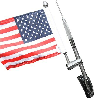 "Pro Pad Antenna Flag Mount with 6""x9"" USA Flag Honda Gold Wing"
