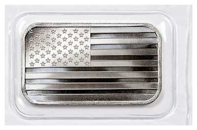 SilverTowne Mint American Flag Design Prooflike 1 oz Silver Bar SKU49133