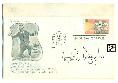 First Day Cover Signed By - Kirk Douglas an American Actor.