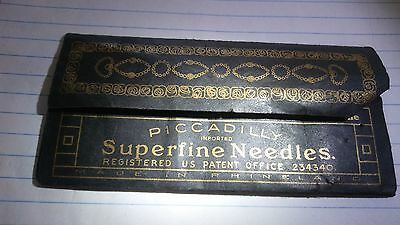 Antique Piccadilly sewing needles
