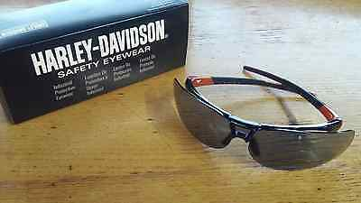 HARLEY DAVIDSON HD1100 Scratch-Resistant Safety Glasses, TSR Gray Tint NEW! #57B