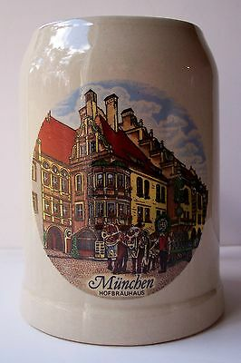 Pottery Beer Stein Mug Bavaria