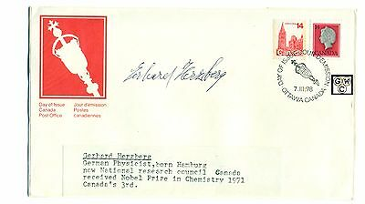 First Day Cover Signed by - Gerhard Herzberg a German Physicist, Born Hamburg