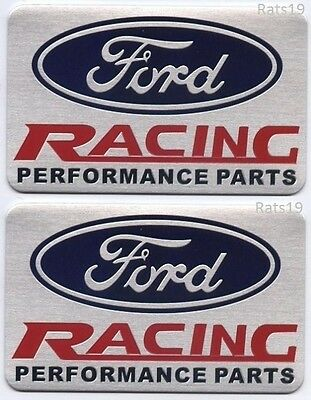 Ford Racing Parts >> Two 2 Ford Racing Performance Parts Emblems In Brushed Aluminum