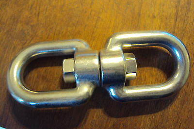 "5/16"" Stainless Anchor Swivel EYE-EYE SWIVEL NEW 5/16 inch"