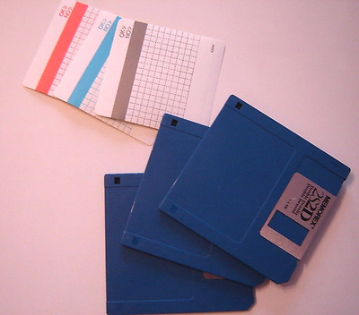 "NEW loosed Memorex 3.5"" DS/DD Floppy Disk Diskette QTY of 3 Disc with labels"