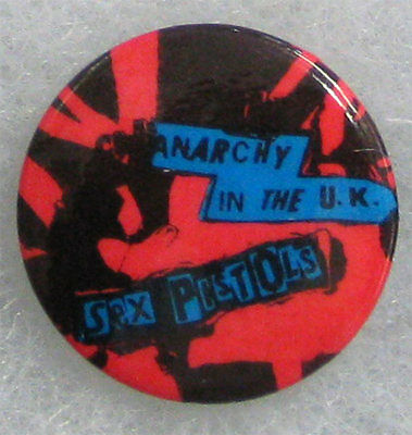 Sex Pistols Anarchy UK _RARE VTG 70's Pin Badge Button for hat/jacket/shirt pUnK