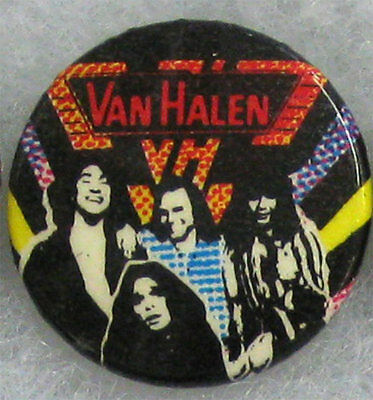 Van Halen _RARE VTG 80's Lapel Pin Badge Button for hat/jacket/shirt MeTaL RocK