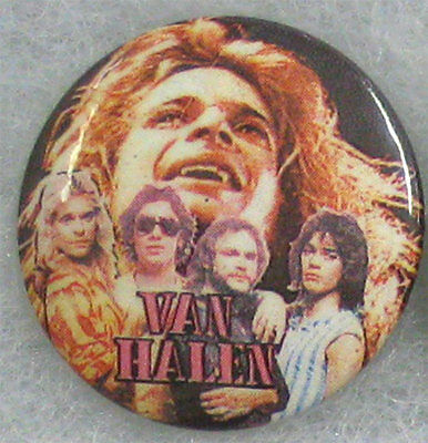 Van Halen _ORIG VTG 80's Lapel Pin Badge Button for hat/jacket/shirt MeTaL RocK