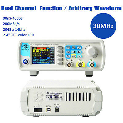 30MHz Dual Channel DDS Signal Generator Arbitrary Wave Frequency Output Signal