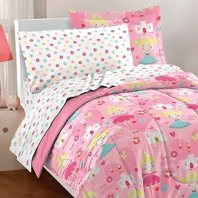 Dream Factory Pretty Princess Mini Bed In A Bag Bedding Set, Pink Twin Size New