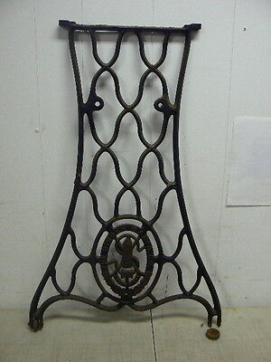 Antique OEM Singer Sewing Machine No.6 Cabinet Parts: Cast Iron Base Side Panel