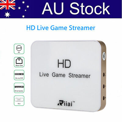 AU! Riiai 930 HDMI 1080P HD Game Video Capture Streamer Box For Xbox One PS3 PS4