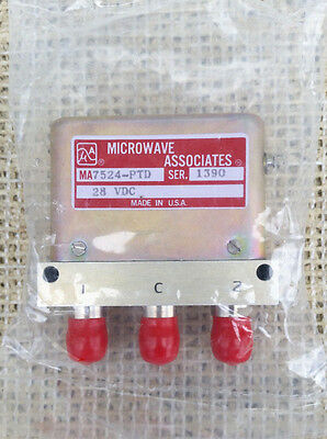MICROWAVE ASSOCIATES MA7524-PTD Coaxial Switch 3 Port   **NEW**