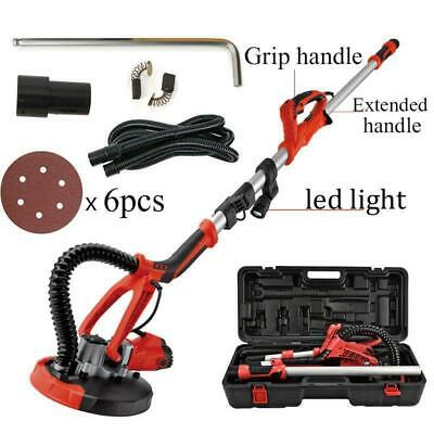 750W Drywall Sander Electric Variable Adjustable Speed Sanding Pad w/ LED Light