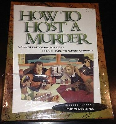 NEW ~ How to Host a Murder The Class of '54  A DINNER PARTY GAME FOR EIGHT