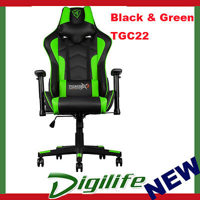 AEROCOOL ThunderX3 TGC22 Ergonomic Motorsports Inspired Gaming Chair Black/Green