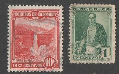 Colombia.  1937 Definitive Issues. Cancelled