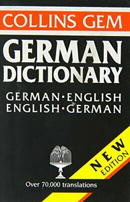 German-English, English-German Dictionary (Gem Dictionaries) Paperback Book The