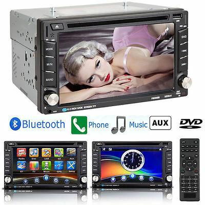 HD Touch Screen Double 2DIN 6.2'' Car Stereo DVD CD MP3 Player Bluetooth Radio K