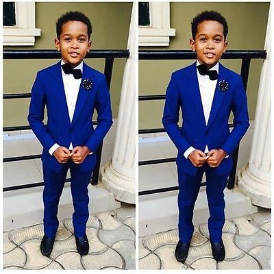 Royal Blue Page Boy Wedding Suit Hot Sale Kid's School Formal Ceremony Wear Suit