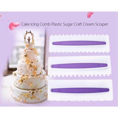 Sugar Craft Chocolate Scrapers Cake Decor Fondant Icing Smoother Mould Tool