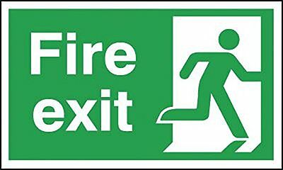 "Signs and Labels AMZFE049AECRP ""Fire Exit Running Man Right"" Safe Condition 1 mm"