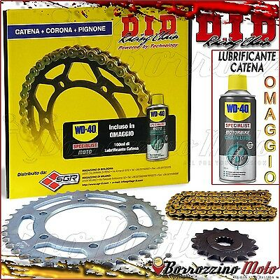 KIT TRASMISSIONE DID CATENA+CORONA+PIGNONE DUCATI 916 Monster S4 2001 2002 2003
