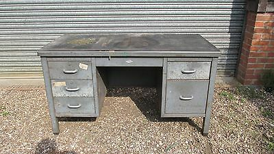 Vintage industrial Art metal desk workbench
