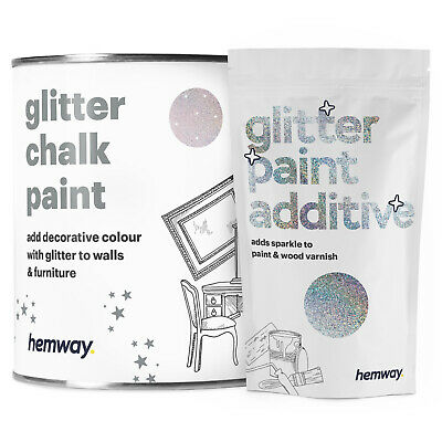 Hemway Glitter Wall Paint Silver Holographic Pink Candy Floss Ceilings Furniture