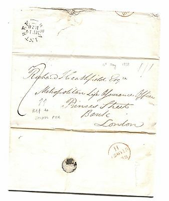 L1838.1 GB Essex Bocking Surgeon Smallpox Insurance EL