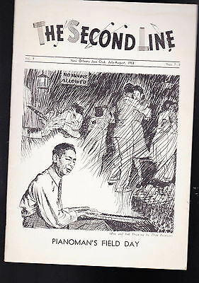 The Second Line Jazz Magazine July August 1958 Roy Carew, Peck Kelly