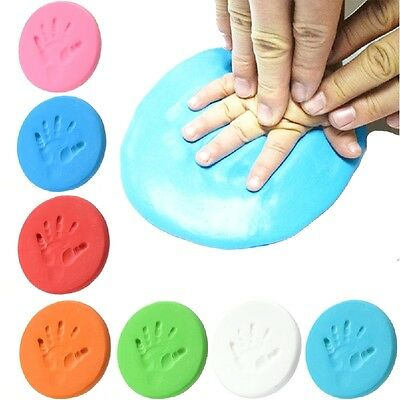 Infant Baby Kids Handprint Footprint Clay Special Baby DIY Air Drying Clays New
