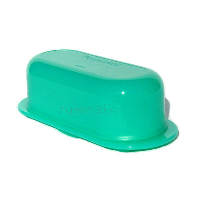 Tupperware NEW Butter or Cheese Dish  Open House Style in Jade Green