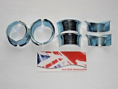 Set of 8 (4 pairs) EXHAUST PIPE COLLETS Flanges. NEW for Honda Project Downpipe.