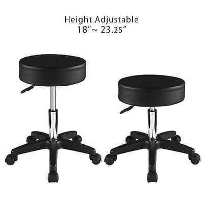 Lab Seat Shop Stool Height Adjustable Swivel Chair Rolling Wheel Salon Medical