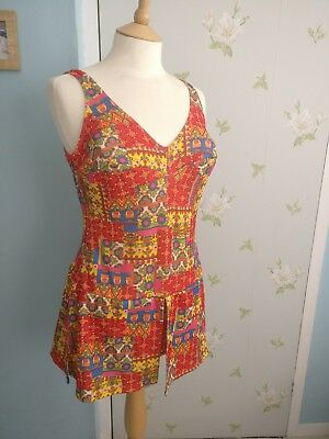 original vintage 1960s swimming costume size 12