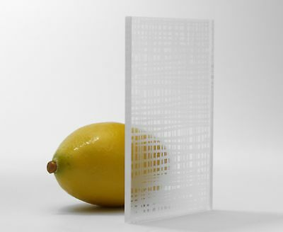 Clear Impressions Linear Texture Cast Acrylic Perspex Sheet Cut To Size Plastic