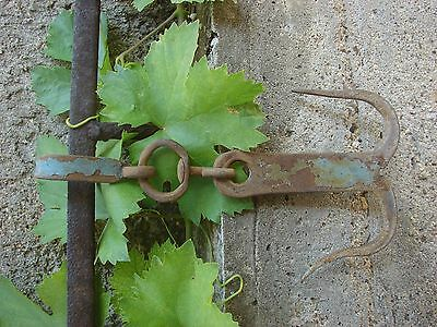 Vintage Antique Old Primitive Hand Forged Double Meat