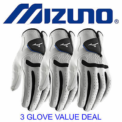 New 2017 Mizuno Comp Mens All Weather Golf Glove  3 Glove Value Deal