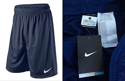 New With Tags NIKE Men's Size Small DRY-FIT FOOTBALL Shorts Navy Blue