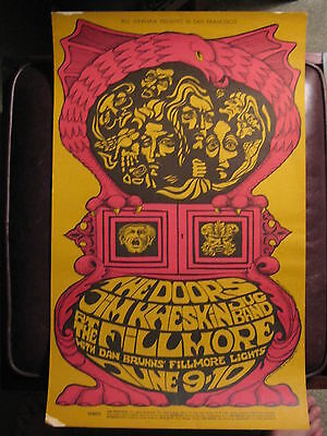 Fillmore Poster BG 67 First Printing  The Doors