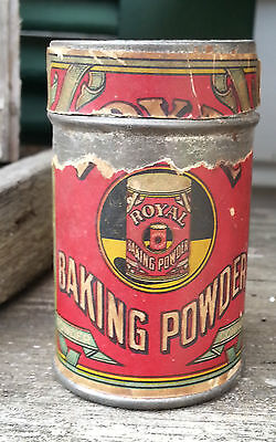 Old Small Advertising Tin ROYAL BAKING POWDER Co New York Org Paper Label