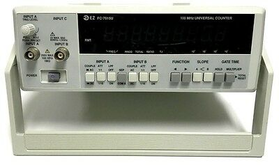 EZ FC-7015U 100mhZ UNIVERSAL COUNTER BENCH-TOP TEST EQUIPMENT