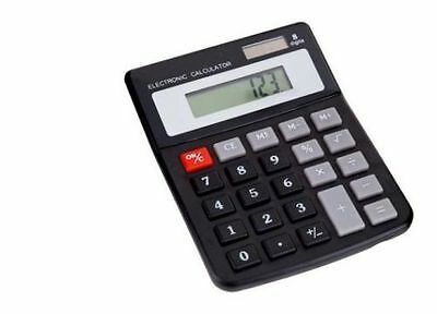 Dual Power Electronic Calculator Solar & Battery Powered Home Office