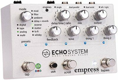 Empress Effects Echosystem Delay Guitar Effect Pedal New Echo System